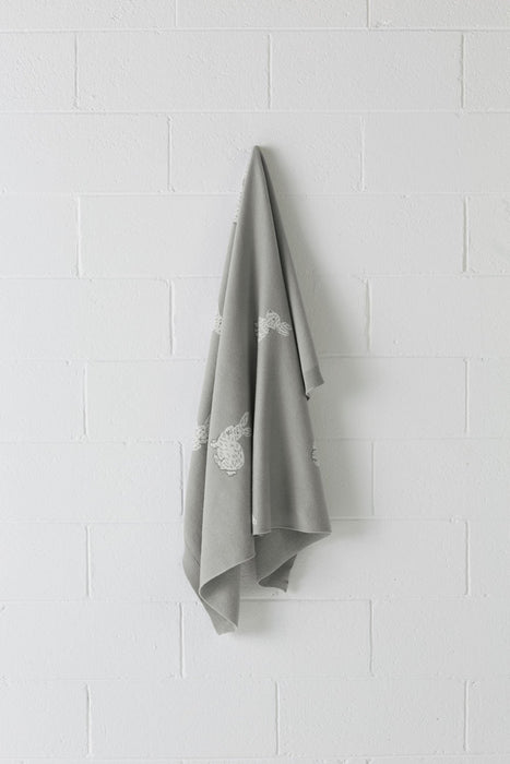 Hiccups Hippity Hop Grey Throw
