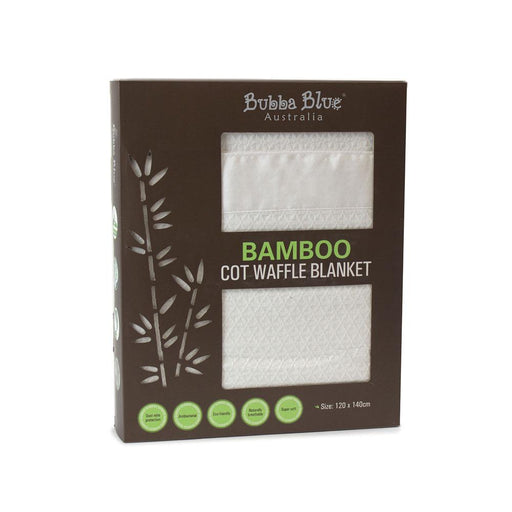 Bubba Blue Bamboo Cot Waffle Blanket