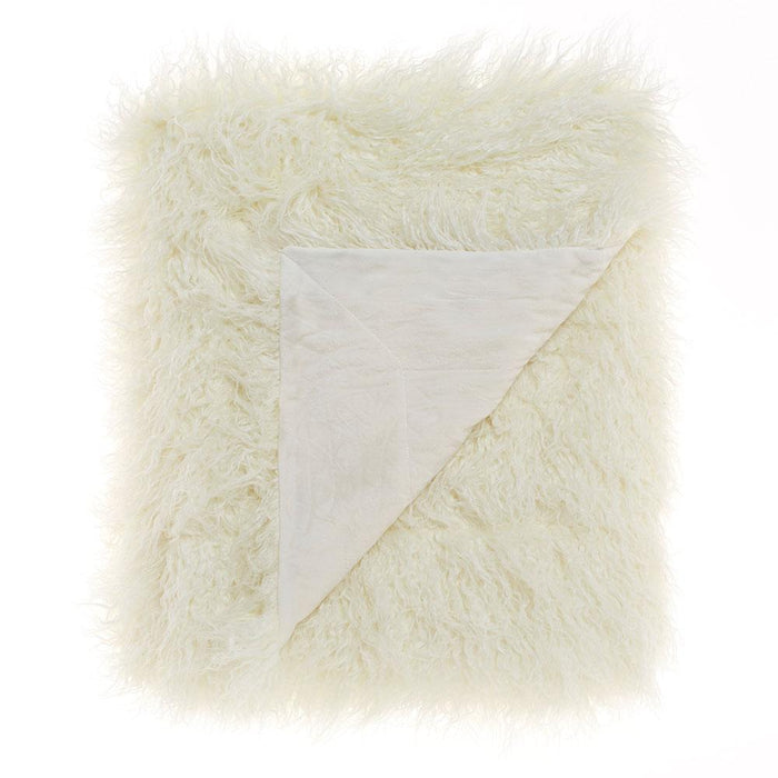 Linen House Lark Faux Fur Throw Rug