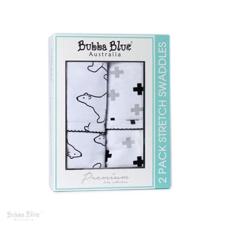 Bubba Blue Polar Bear Stretch Jersey Wrap 2pk