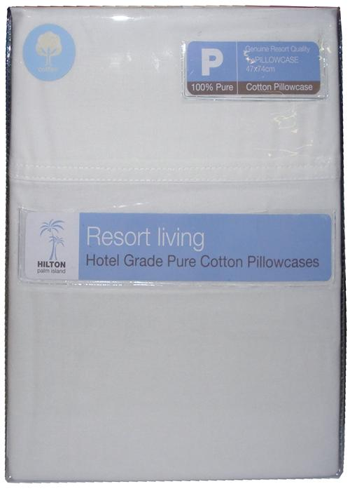 Hilton Resort Living White Standard Pillowcase Pack of 2