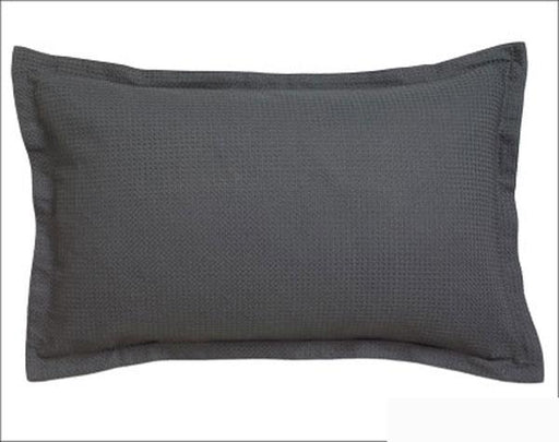 Logan and Mason Ascot Waffle Granite Standard Pillow Case 2pack