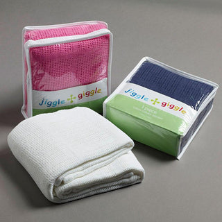 Jiggle & Giggle Cotton Cellular Cot Blanket