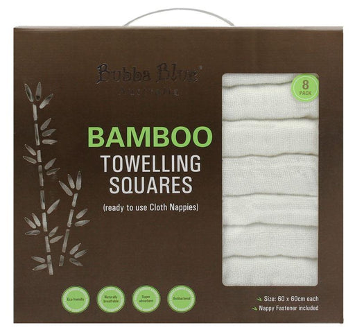 Bubba Blue Bamboo 8 Pc Towelling Nappies