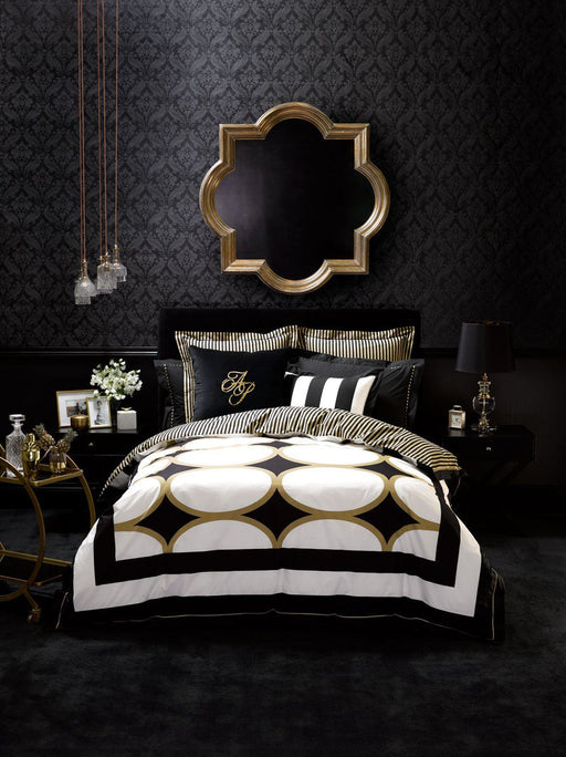 Alex Perry Manhattan Gold Quilt Cover Set
