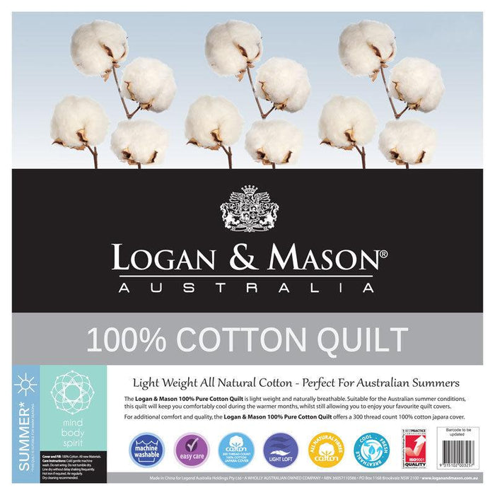 Logan & Mason 100% Cotton Quilt