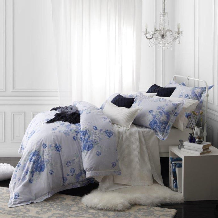 Logan & Mason Garland French Blue Quilt Cover Set