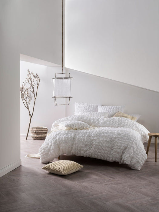 Linen House Riverbank White Quilt Cover Set
