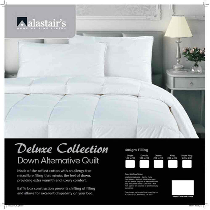 Alastairs Deluxe Collection Down Alternative Microfibre Quilt