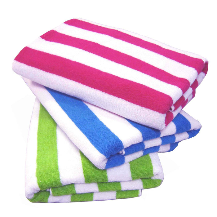 Palmer Pacific Striped Pool Towel - Lime