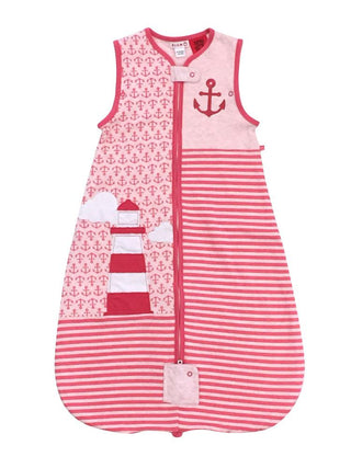 Plum 1.0 Tog Cotton Jersey Anchor Pink Sleep Bag