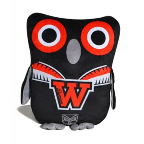 Official NRL New Zealand Warriors Owl Shaped Cushion