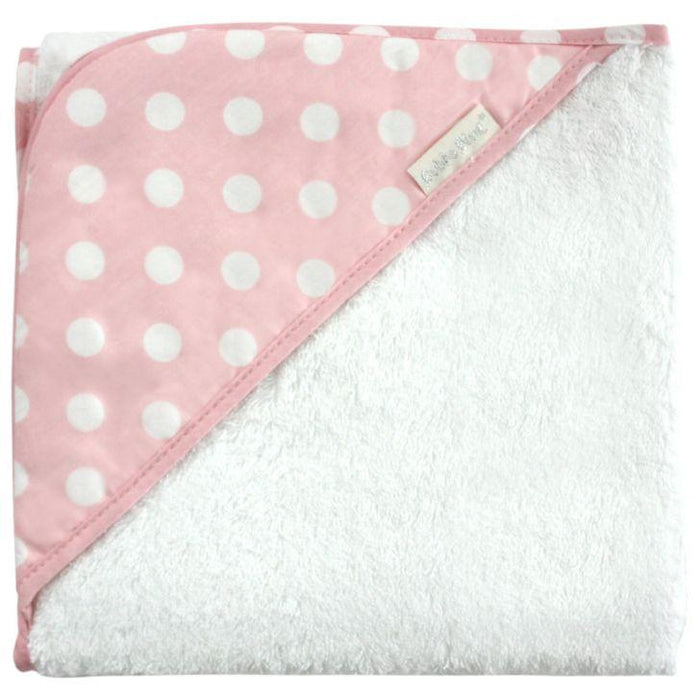 Bubba Blue Pink Polka Dots Hooded Towel