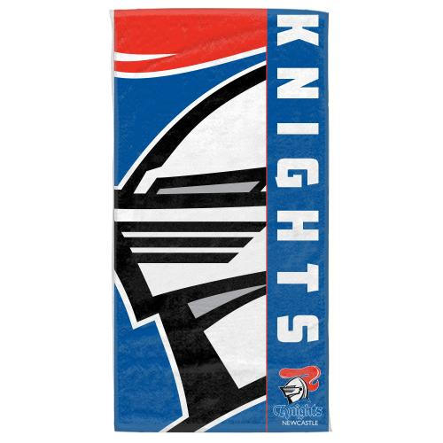 NRL Official Newcastle Knights Supporter Cotton Velour Beach Towel
