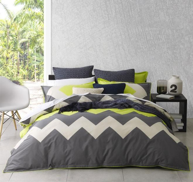 Logan & Mason Marley Lime Quilt Cover Set