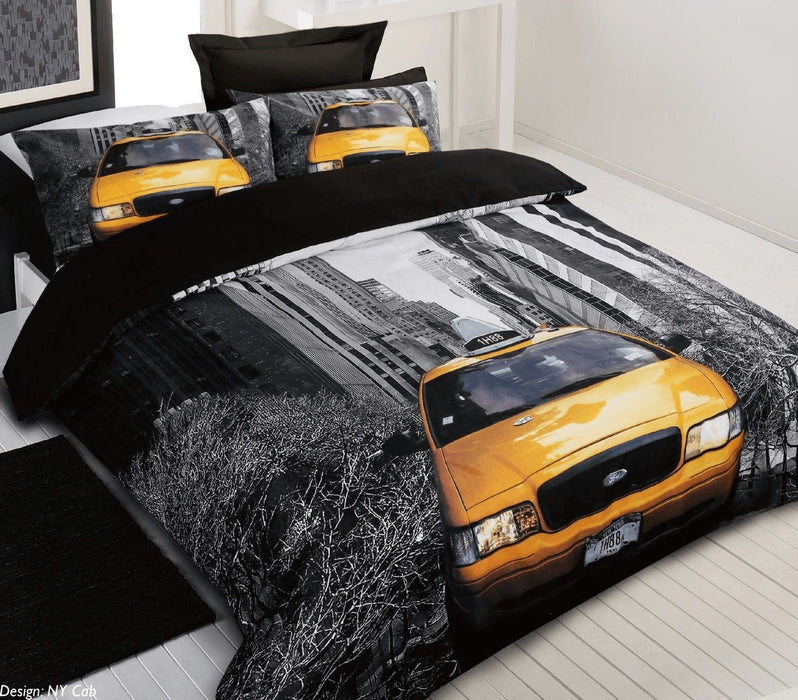 Georges Fine Linens New York Cab Quilt Cover Set