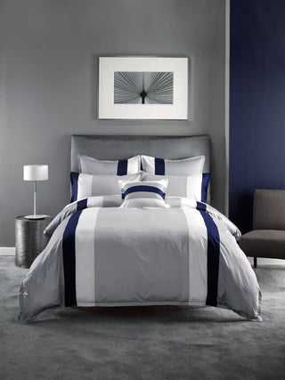 Linen House Hotel Collection 500TC Barret Navy Quilt Cover Set or Accessories