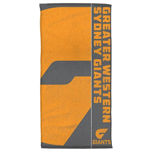 AFL Official GWS Giants Supporter Cotton Velour Beach Towel