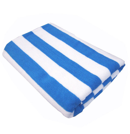 Palmer Pacific Striped Pool Towel - Aqua