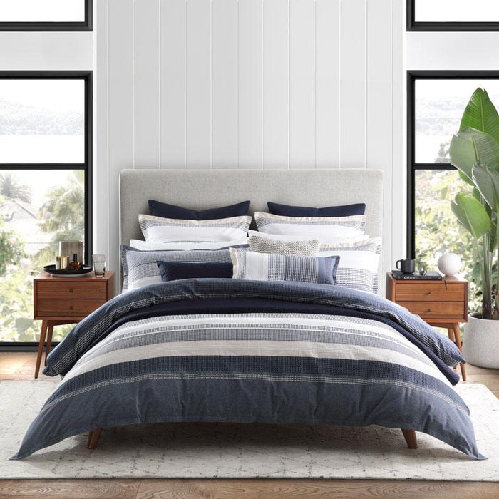 Private Collection Avoca Navy Quilt Cover Set