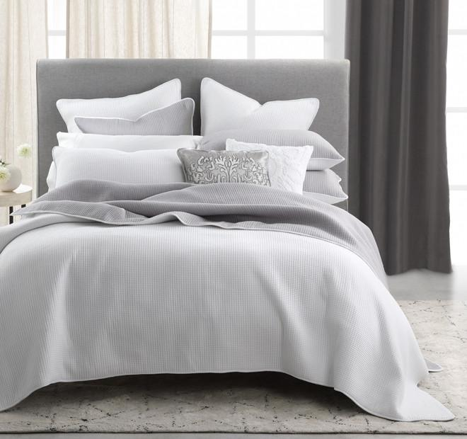 Private Collection Walsh Pewter/White Reversible  Coverlet Set