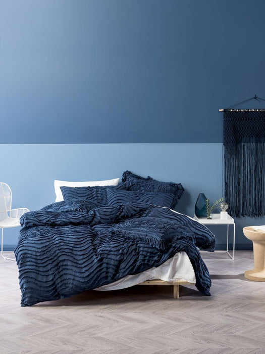 Linen House Drift Denim Quilt Cover Set