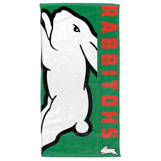 NRL Official South Sydney Rabbitohs Supporter Cotton Velour Beach Towel