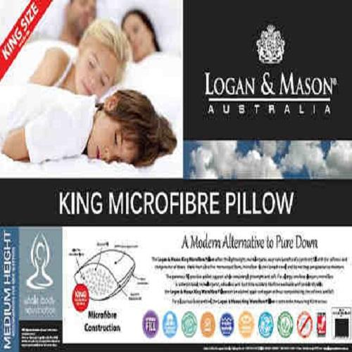 Logan & Mason Blended Microfibre King Pillow