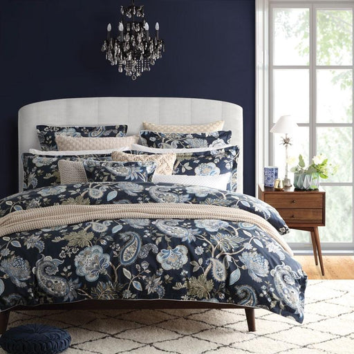 Private Collection Toorak Navy Quilt Cover Set