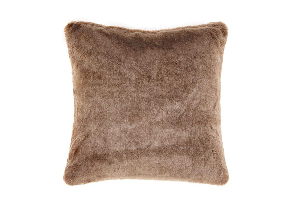Linen House Toffee Faux Fur Cushion