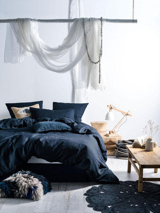 Linen House Nimes Indigo Quilt Cover Set or Accessories