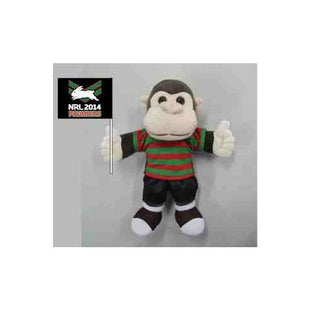 Official NRL Premiers Footy Pet Monkey - South Sydney Rabbitohs