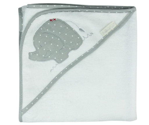 Bubba Blue Embroidered Petit Elephant Hooded Towel
