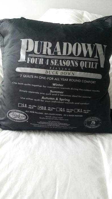 Puradown Four Seasons 2in1 80% Duckdown Quilt