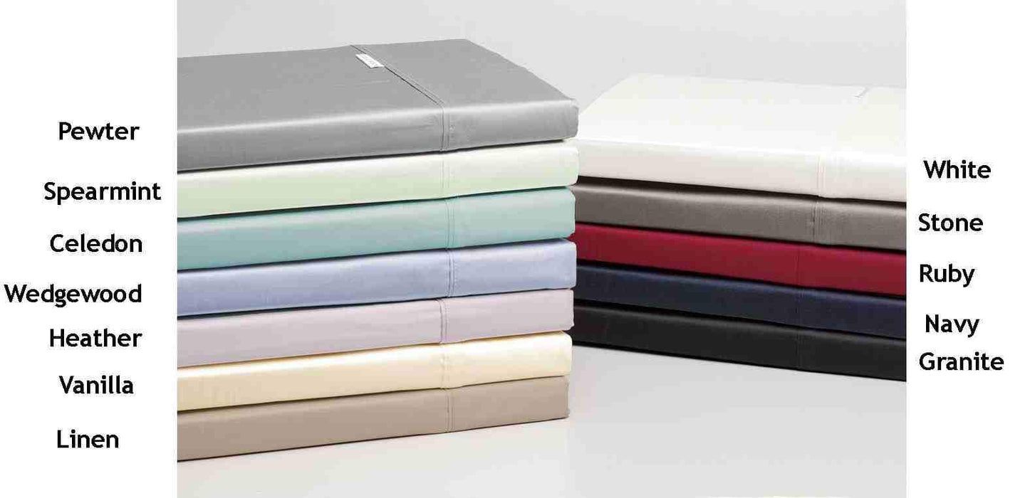 Logan & Mason 400 Thread Count Egyptian Cotton Extra Long Single Bed Fitted Sheet