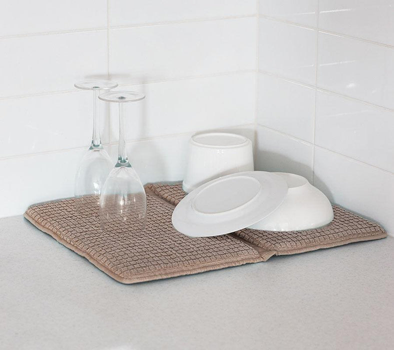 Bambury Microfibre Deluxe Dish Drying Mat 2 Pack