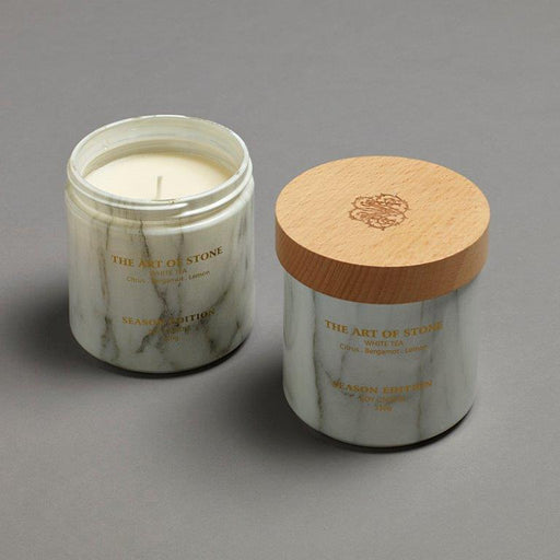 Season Edition Stone Marble Look Soy Candle