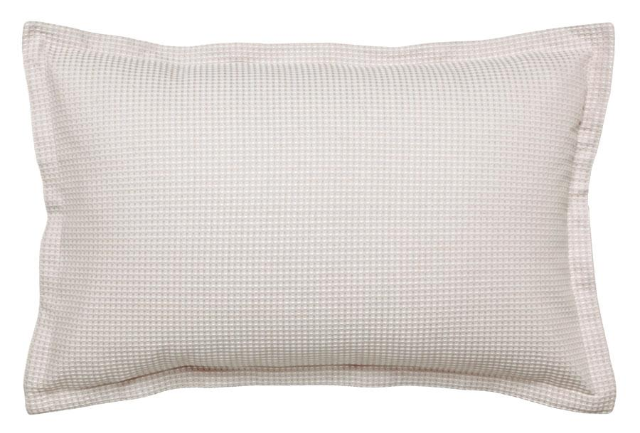 Logan and Mason Ascot Waffle Stone Standard Pillow Case 2pack