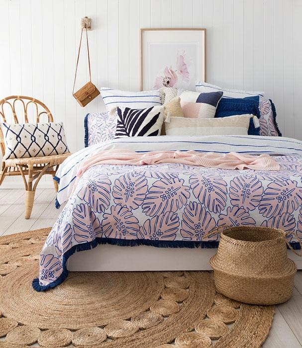 Bambury Calypso Navy Quilt Cover Set