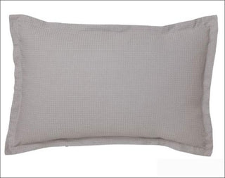Logan and Mason Ascot Waffle Pewter Standard Pillow Case 2pack