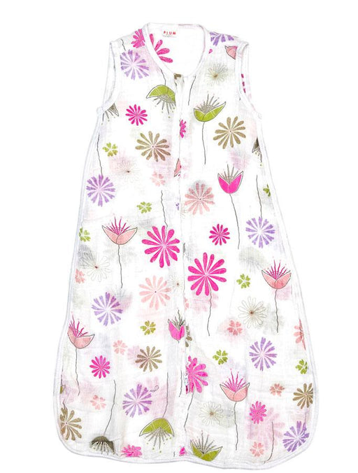 Plum Muslin Floral Graphic Print 1 Ply Sleep Bag