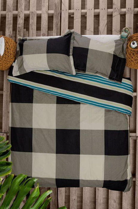 Ardor Nicholson Black Quilt Cover Set + Accessories