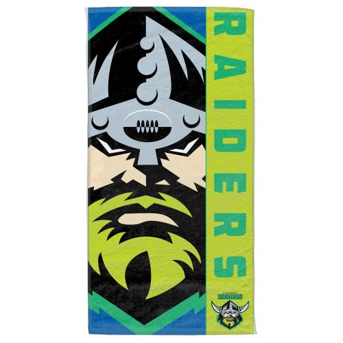 NRL Official Canberra Raiders Supporter Cotton Velour Beach Towel