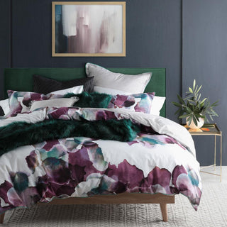 Logan & Mason Breeze Plum Quilt Cover Set or Accessories