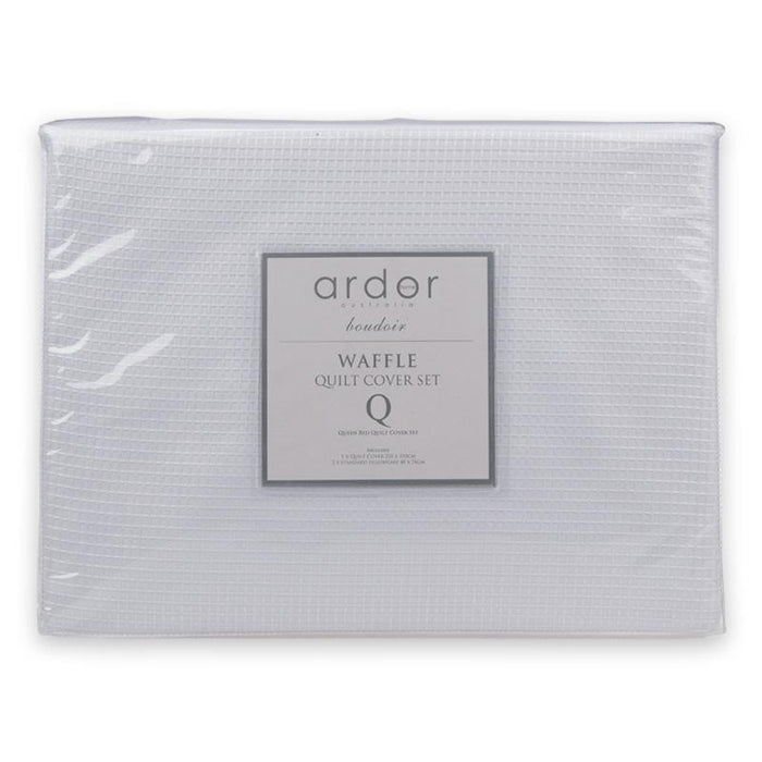 Ardor Boudoir Waffle Quilt Cover Set or Accessories