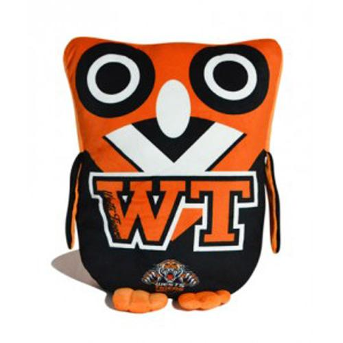 Official NRL Wests Tigers Owl Shaped Cushion