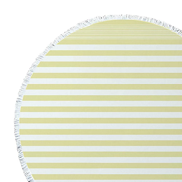 J.Elliot Turkish Round Beach Towel - Lemon Sorbet
