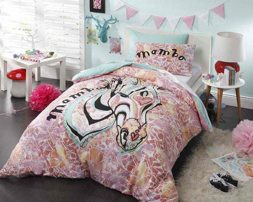 Mambo Zebra Pink Quilt Cover Set