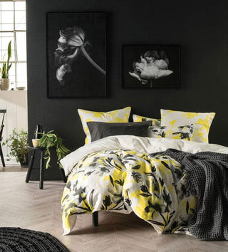Linen House Quinn Yellow Quilt Cover Set or Accessories