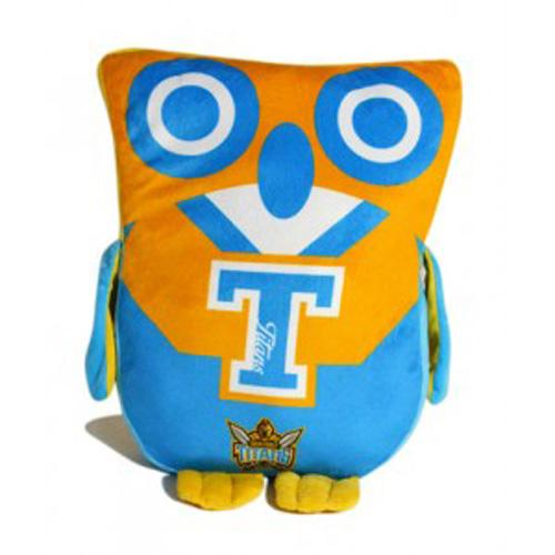 Official NRL Gold Coast Titans Owl Shaped Cushion